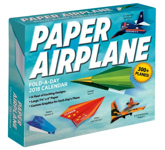 2018 paper airplane calendar