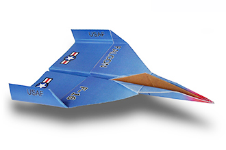 fighter jet paper airplane instructions